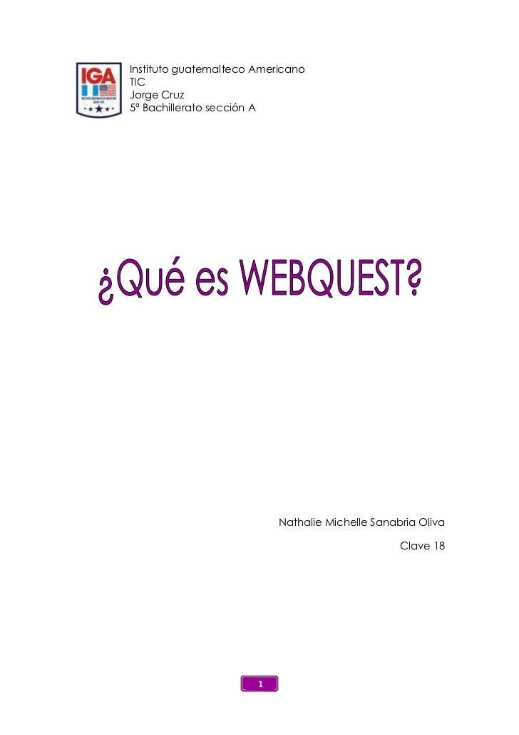 Webquest examen tic
