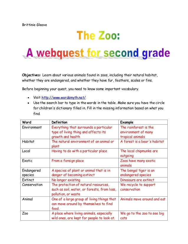 Brittinie GleaveObjectives: Learn about various animals found in zoos, including their natural habitat,whether they are en...