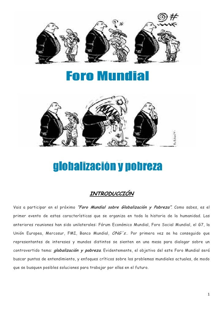 Webquest foro globalización