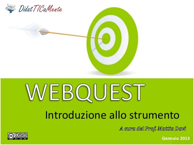 Introduzione allo strumento Gennaio 2013