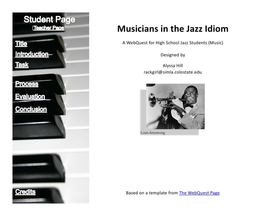 [   ]         MusiciansintheJazzIdiom          AWebQuestforHighSchoolJazzStudents(Music)                       ...