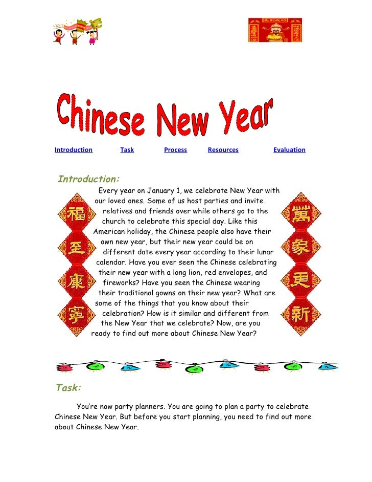 Webquest on Chineses New Year