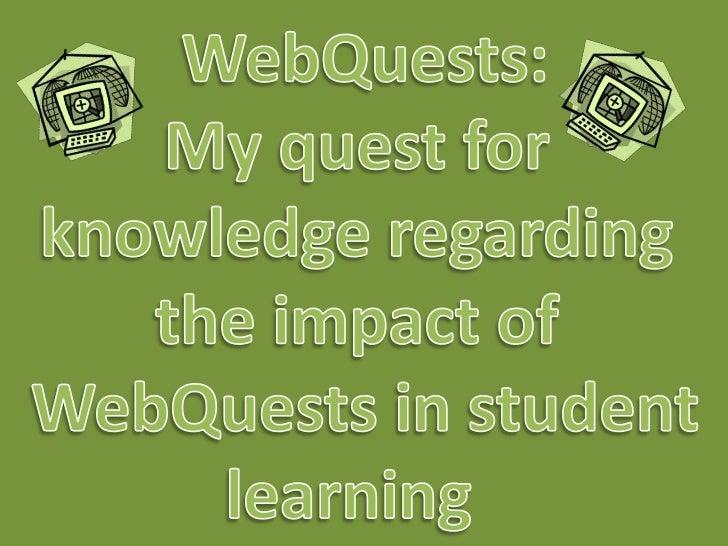 Webquest presentation, December 2011