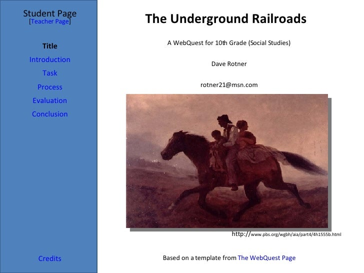 Webquest Underground Railroad[1]