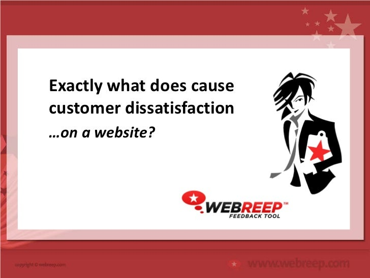Exactly what does causecustomer dissatisfaction…on a website?