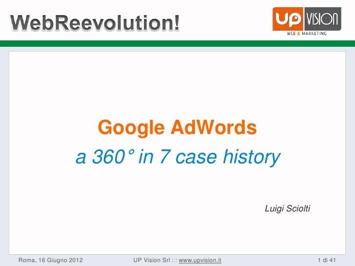Google AdWords                 a 360° in 7 case history                                                              Luigi...
