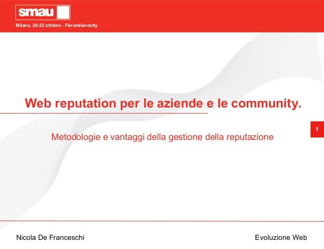 Web reputation per le aziende e le community
