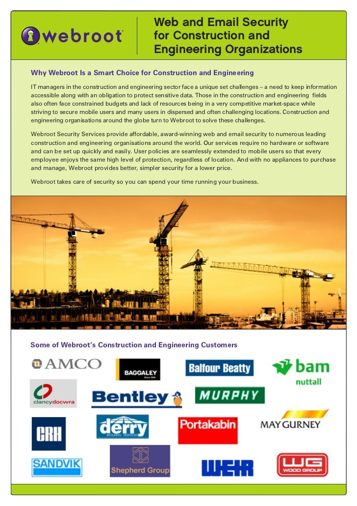 Webroot Construction sector datasheet