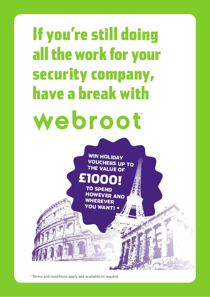 Webroot Infosec competition poster