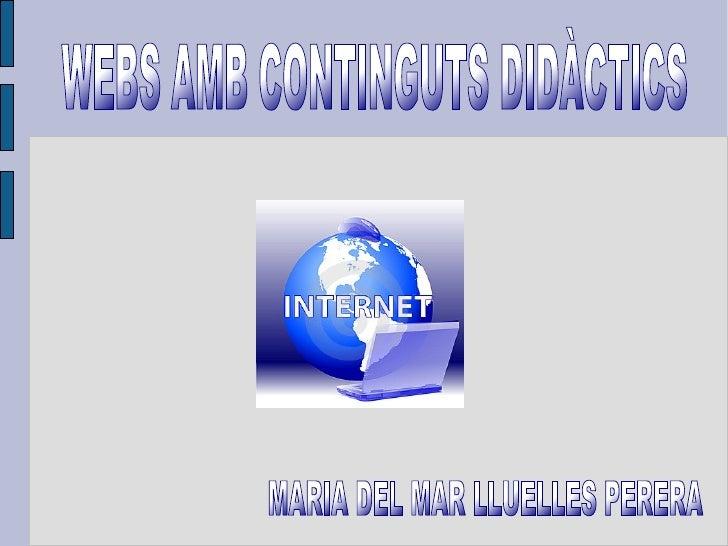 Webs amb continguts didàctics