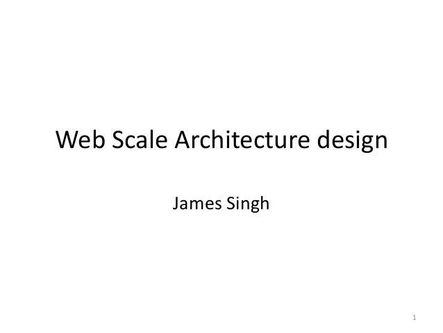 Web scale architecture design