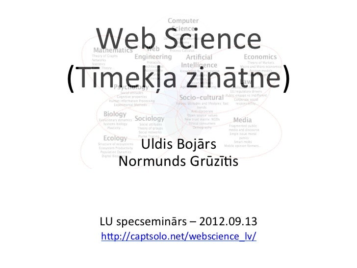 Web Science - 1. lekcija