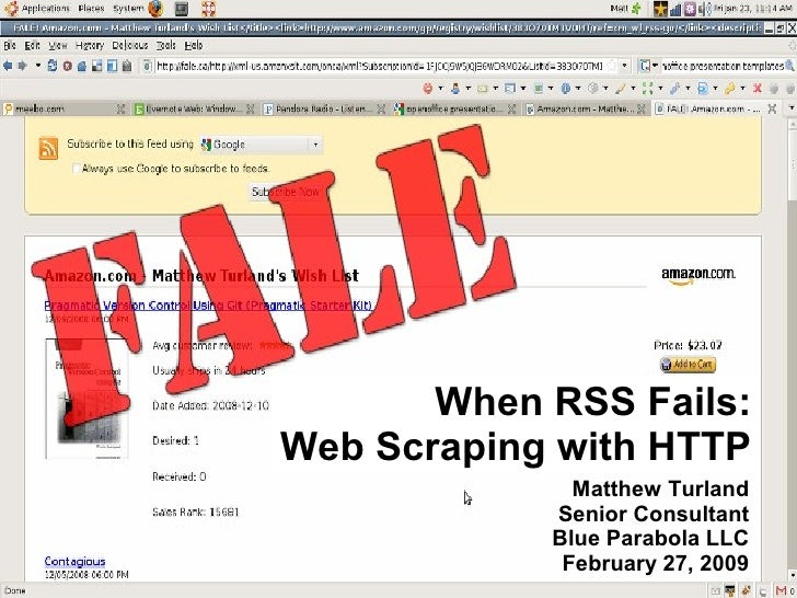 When RSS Fails: Web Scraping with HTTP