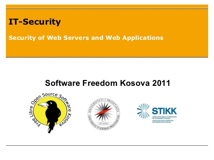Security of Web Servers and Web Applications