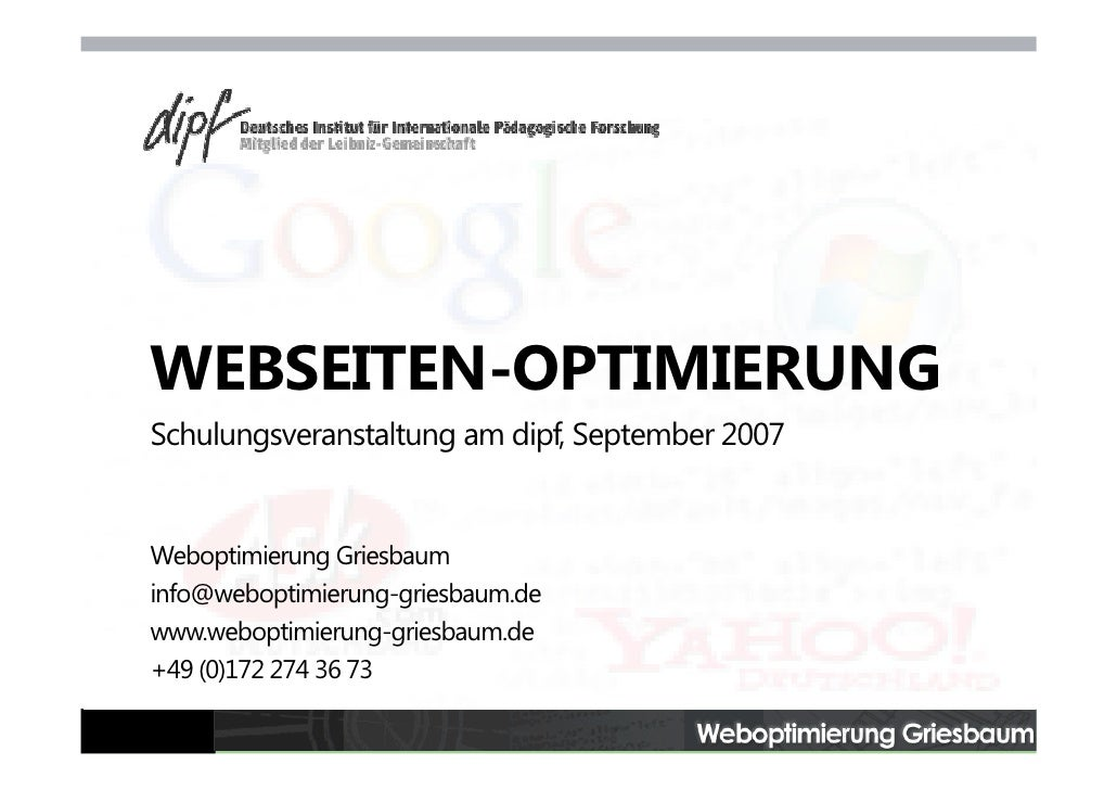 Webseiten-Optimierung