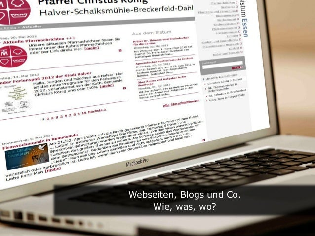 Text  Webseiten, Blogs und Co.  Wie, was, wo?