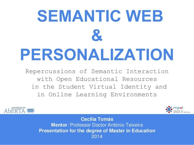 SEMANTIC WEB and PERSONALIZATION