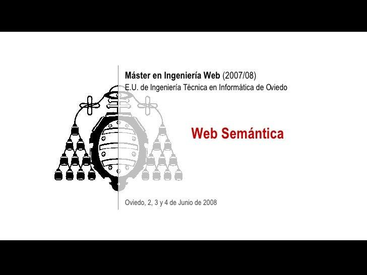 Web Semántica MIW EUITIO 2008