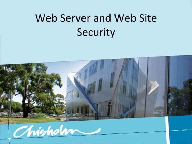 Web Server Web Site Security