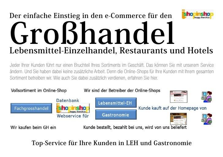 Der einfache Einstieg in den e-Commerce für den   Großhandel Lebensmittel-Einzelhandel, Restaurants und Hotels Jeder Ihrer...