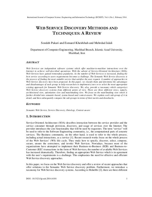 Web service discovery methods and techniques a review
