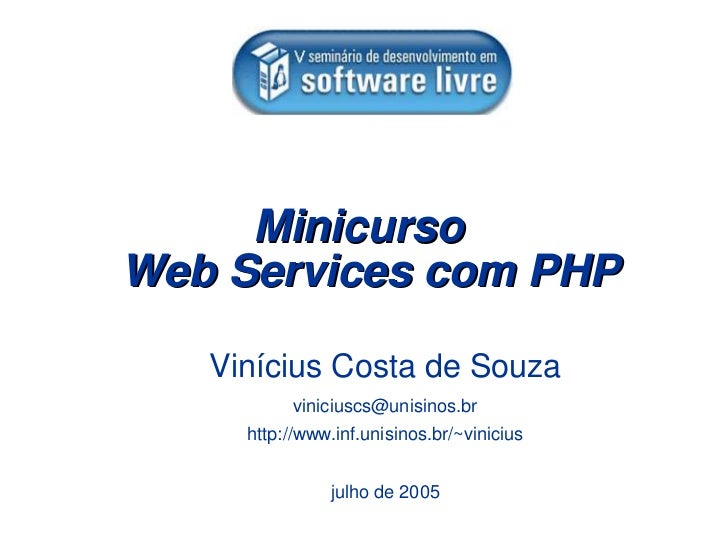 Mini Curso Web Services com PHP
