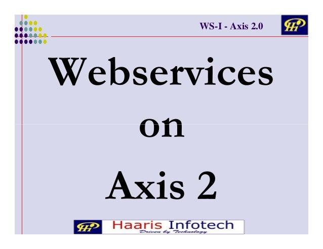 WS-I - Axis 2.0