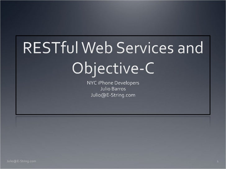 Web Services with Objective-C