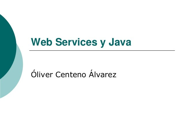 Web services y java