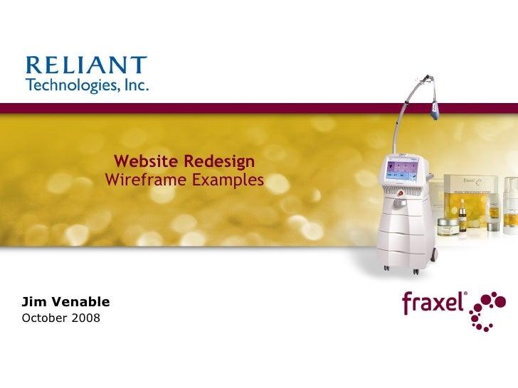 Jim Venable October 2008 Website Redesign Wireframe Examples