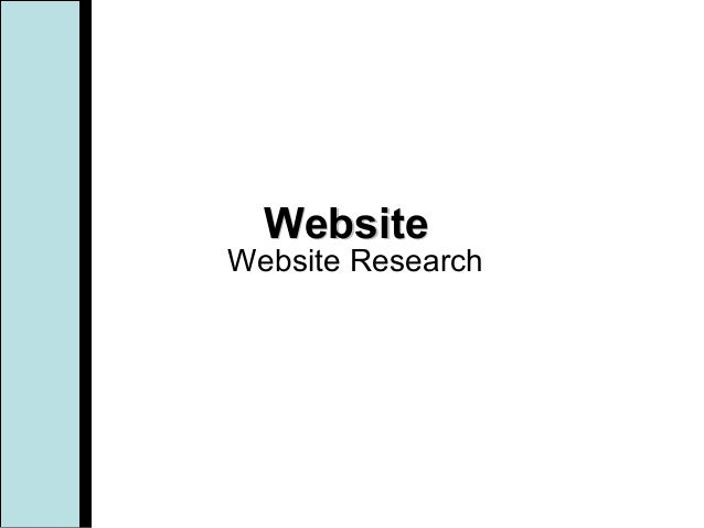 WebsiteWebsite Research