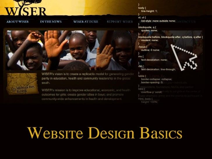 Anatomy of a Website                                                           Header                           ...