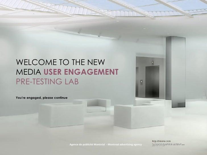 Website design--pre-testing Neuromarketing - agence de publciité Montréal