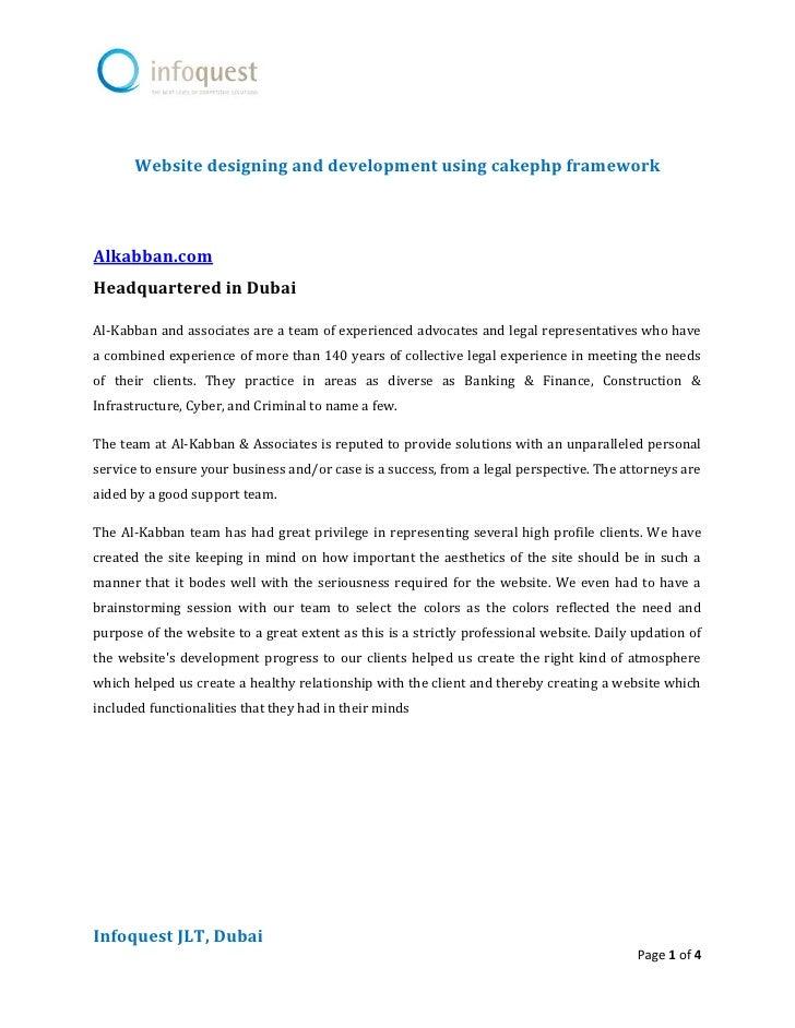 Website designing and development using cakephp framework