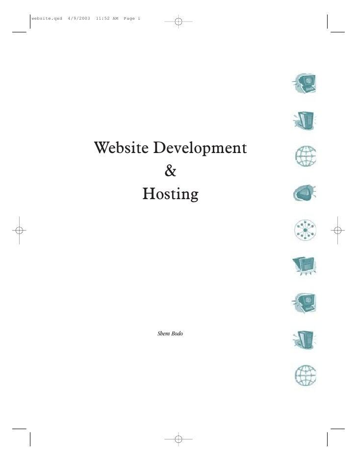 website.qxd   4/9/2003   11:52 AM   Page i                              Website Development                               ...