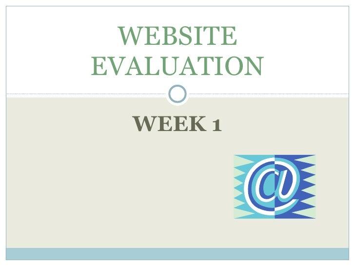 Website Evaluation (Week 1)