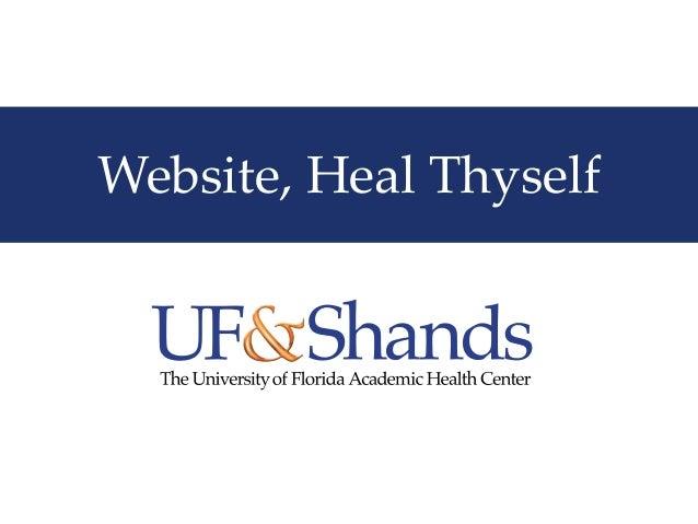 Website, Heal Thyself