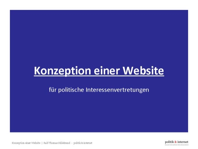Konzeption einer Website