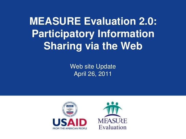 MEASURE Evaluation Web Site Update