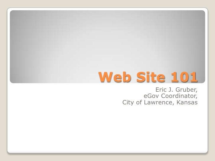 Web Site 101