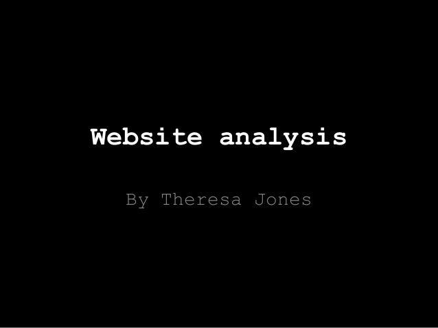 Website analysis