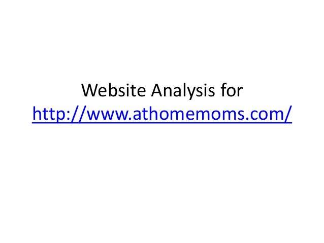Website analysis for athomemoms.com website