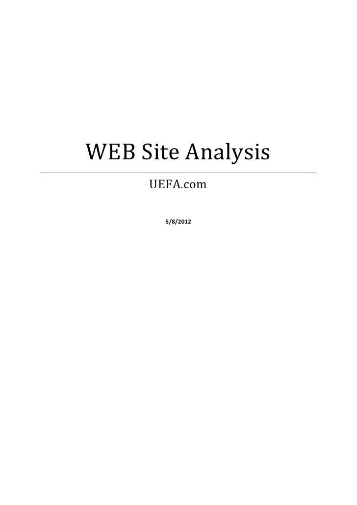 Website analysis UEFA