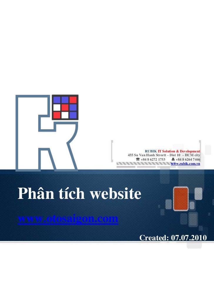 RUBIK IT Solution & Development                    455 Su Van Hanh Streett – Dist 10 – HCM city                          ...