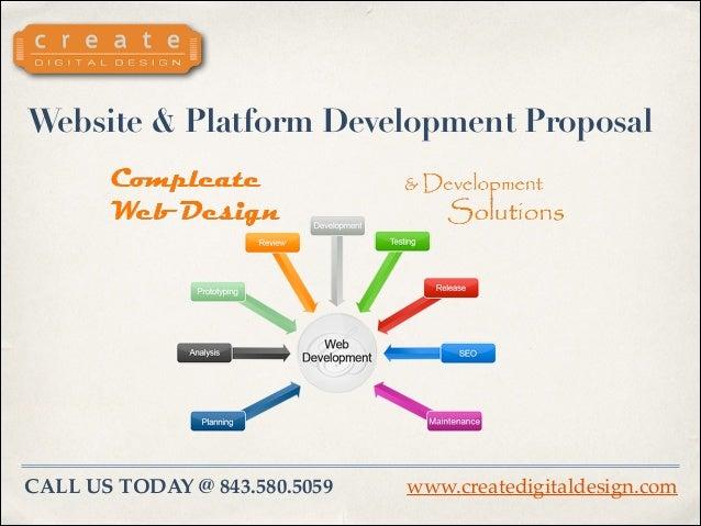Website & Platform Development Proposal  CALL US TODAY @ 843.580.5059  www.createdigitaldesign.com