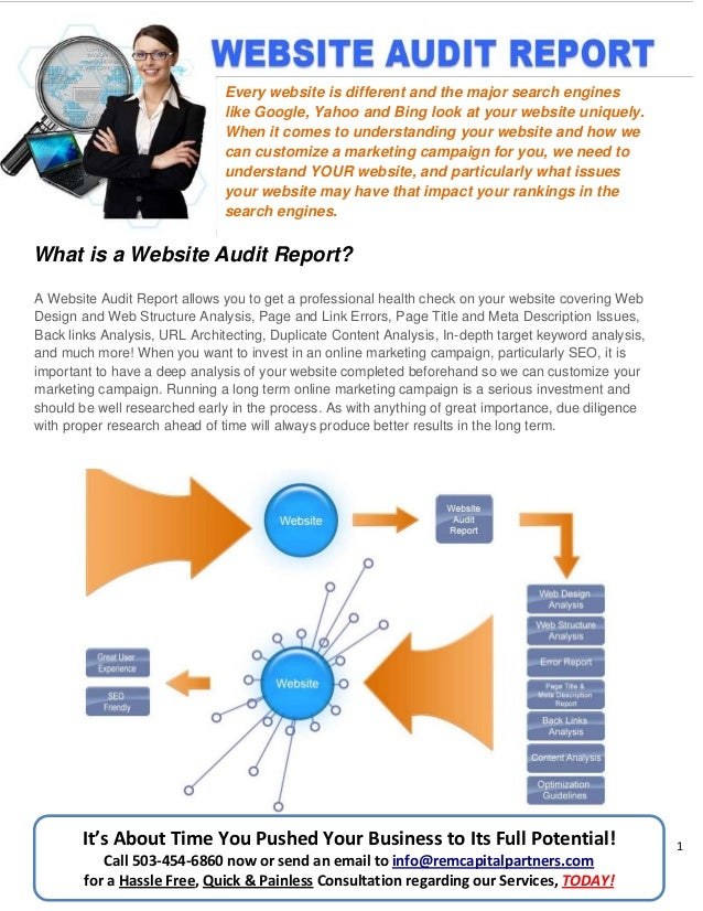 Website Audit Report Services by REM Capital Partners Media Division