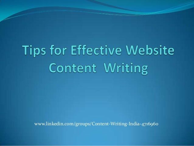 Website Content Writing - SEO Content Writing