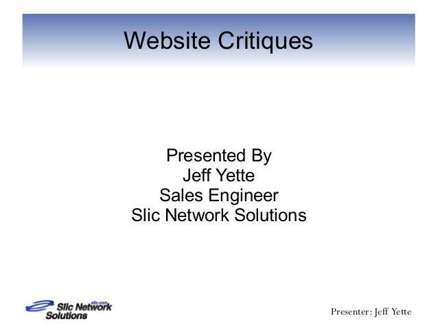 Website critiques
