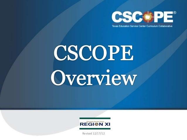 Website cscope overview