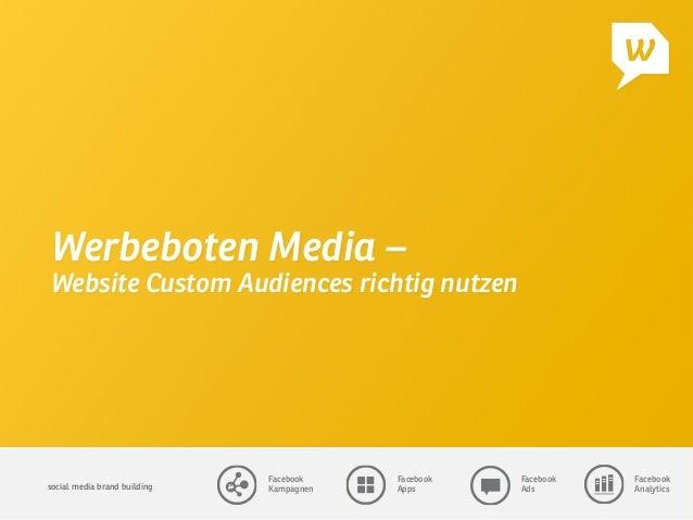social media brand building  Facebook Kampagnen Facebook Apps Facebook Ads Facebook Analytics Werbeboten Media – Website C...